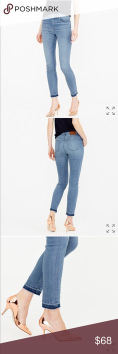 "J. Crew Lookout High-rise Crop Jeans Boater Wash Lookout High-rise toothpick jean with cropped hem from J. Crew. Size 24. 10"" rise, 26"" inseam. Boater wash. Perfect condition. Runs true to size according to reviews on J. Crew website. No trades. J. Crew Jeans Ankle & Cropped"