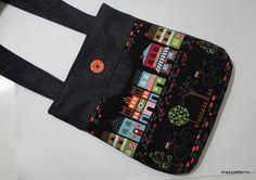 handmade  denim medium-sized shoulder by Imazzpatterns on Etsy