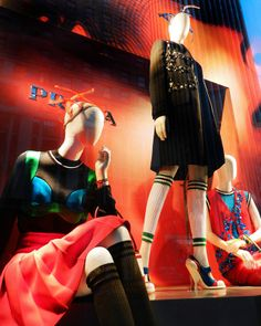 Storefronts and Prada collection for Bergdorf Goodman, Buro 24/7