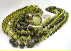 Selro Selini Necklace Six Strand Textured /45
