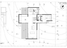 Completed in 2009 in Villa Gesell, Argentina. Images by Gustavo Sosa Pinilla. The x plot of land in the coastal Mar Azul forest in Buenos Aires, Argentina is the site for BAK Architects' JD House, a residence designed. Architecture Plan, Residential Architecture, Contemporary Architecture, Architecture Details, Brick Interior, Modern Interior Design, Concrete Houses, Exposed Concrete, International Style