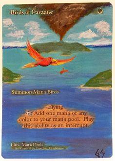MTG Magic BIRDS OF PARADISE Hand Painted OOAK Altered Art Card #WizardsoftheCoast