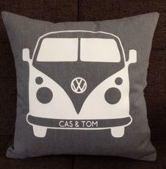 Personalised VW inspired Campervan Cushion by ScatterDesigns, $39.00