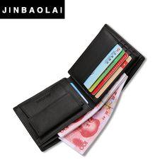Luxury 100% Genuine Leather Wallet Fashion Short Bifold Men Wallet Casual Soild Men Wallets With Coin Pocket Purse Male Wallet * La información detallada se puede encontrar haciendo clic en la VISITA botón