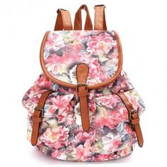 floral backpack| $16.79  kawaii floral pastel hipster harajuku fachin backpack bag accessories under20 under30 newchic
