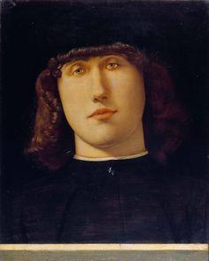 Portrait of a Young Man, by Lorenzo Lotto, Accademia Carrara, Bergamo. Renaissance Men, Italian Renaissance, Renaissance Portraits, Italian Painters, Caravaggio, Carrara, Opera, Gallery, Artwork
