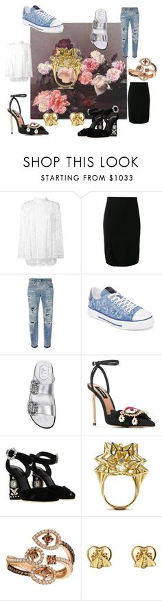 """Untitled #90"" by cat-garfield on Polyvore featuring Zimmermann, Givenchy, Dolce&Gabbana, Valentino, Roger Vivier, Dsquared2, John Brevard, LE VIAN and Gucci"