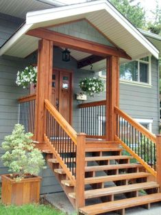 Do you need inspiration to make some DIY Farmhouse Front Porch Decorating Ideas in your Home? When you are trying to create your own unique Farmhouse Front Porch design, you will want to use ideas from those that are… Continue Reading → Front Porch Steps, Small Front Porches, Farmhouse Front Porches, Front Porch Design, Decks And Porches, Rustic Farmhouse, Porch Designs, Front Deck, Front Entry