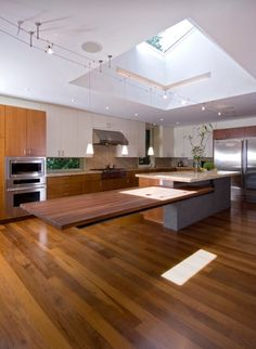 Bridal Path Residence   Contemporary   Kitchen   Toronto   Taylor Smyth  Architects This Cantilevered Table Is Amazing. Skylight Is Great.
