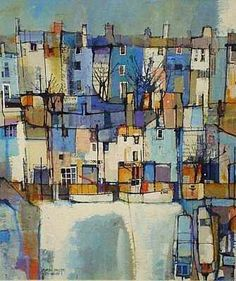 Buy online, view images and see past prices for MARTIN PROCTER (born mixed media 'City Wharf. Invaluable is the world's largest marketplace for art, antiques, and collectibles. Watercolor Landscape, Abstract Watercolor, Abstract Landscape, Landscape Paintings, Watercolor Paintings, Abstract Art, Watercolour, Watercolor Artists, Abstract Paintings