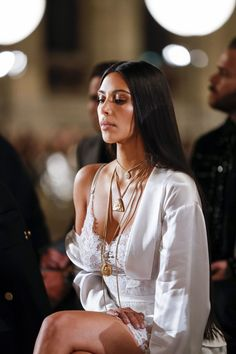 Kim at the Givenchy Fashion Show in Paris, France - October 2, 2016