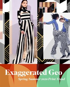 Spring/Summer 2020 Print & Pattern Trend - Exaggerated Geo- Traditional geo takes on a new look for Spring /Summer minimal over scaled patterns in bold contrasts and angular lines form a new rhythm. 2020 Fashion Trends, Spring Fashion Trends, Fashion 2020, Street Style Summer, Street Style Looks, Winter Typ, Nouveau Look, Fashion Forecasting, Spring Summer Trends