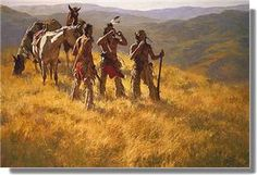 Dust Of Many Pony Soldiers/ The Warrior Howard Terpning kK