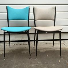 GRANT FEATHERSTON FOR ARISTOC 'MITZI' KITCHEN CHAIRS Restored and upholstered by HoyMidCentury