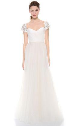 Reem Acra I Am Beautiful Dress - Ivory