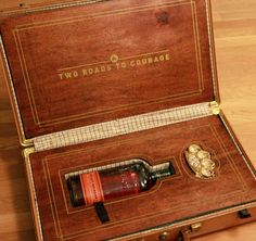 Brass Knuckles & Whiskey suitcase