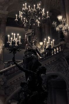 Cloud Nodes Photo - statues-and-monuments Opéra Garnier (Paris) Gothic House, Victorian Gothic, Victorian Vampire, Dark Gothic, Photo Statue, Gothic Interior, Goth Home, Gothic Aesthetic, Witch Aesthetic