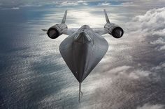 SR 171 Blackbird stealthy soaring at 80K ft. w/space suits :)