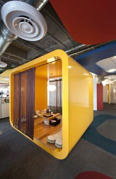 The Google Office in Mexico was designed by SPACE Arquitectura Mexicana. If I ever have to sit in a cubicle all day, I'd prefer it to be this one.