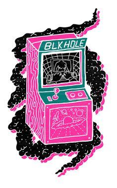 BLK HOLE Art Print by Josh Ln