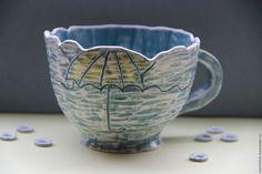 Чашка В любую Погоду -  керамика ручной работы