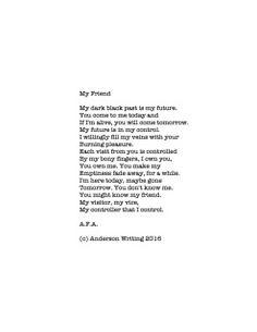 My Friend Printable poem By AFA (c) Anderson Writing 2016