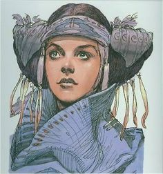 Padme concept art...later used for senator Chuchi from the Clone Wars