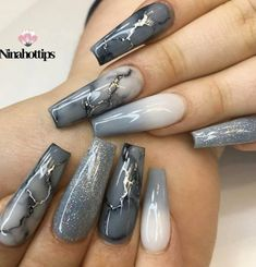 Super pretty nail art designs that worth to try 2 Acrylic Nails Coffin Short, Coffin Shape Nails, Fall Acrylic Nails, Fall Nails, Hot Nails, Swag Nails, Pink Nails, Grunge Nails, Stylish Nails