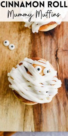 Make Halloween morning extra special with these festive and spooky Cinnamon Roll Mummy Muffins. They require only store-bought cinnamon rolls and candy eyes to recreate and are fun and easy for the whole family.