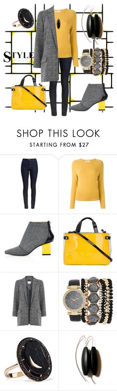 """black and yellow"" by cecilvenekamp ❤ liked on Polyvore featuring Barbour, Zanone, Kim Kwang, Armani Jeans, Jessica Carlyle, Andrea Fohrman and 14th & Union"