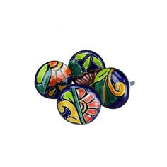 Rustic Hardware :- These Talavera Cabinet Knobs are a Mexican favorite and a best seller here at Tres Amigos. Each Talavera Cabinet Knobs is hand painted and no two Talavera Cabinet Knobs are exactly alike.