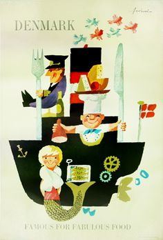 Galerie Montmartre - Denmark - Fabulous Food (c. 1960) by Ib Antoni