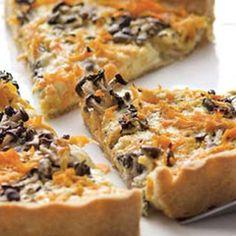 Uma receita bem fácil e deliciosa: Quiche de cogumelo shimeji com cenoura