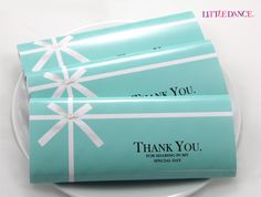 Tiffany Blue personalised chocolate bars for a Tiffany Party at www.littledanceinvitations.com.au http://www.littledanceinvitations.com.au/Products/Chocolate-Bars---Tiffany-Blue?productcategory=25803&productsubcategory=25805