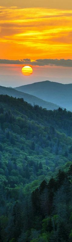 Sunrise in the Smoky Mountains, Tennessee. - from visit my http://smokies.com