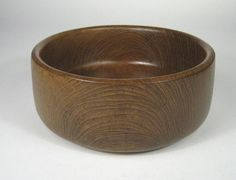 Teak Bowl Wood Thailand Vintage Side Salad Nut 7 5/8 x 2 3/4 Inches Snacks Candy