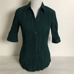 Apt 9 Accordion Shirt Apt. 9 Accordion Shirt with 1/2 sleeve.  Forgiving fabric with extra room where needed. Preloved in good condition. Apt. 9 Tops Button Down Shirts