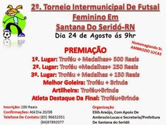 Portal Esporte São José do Sabugi: 2º Torneio Intermunicipal de Futsal Feminino em Sa...
