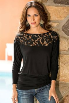 Beautiful Intentions Lace Top: Online Boutique: The perfect top to blaze your way through the work day or look like a trendsetter for date night!  The Beautiful Intentions Lace Top features a wide neck lace top with a ruched waist. Available In Black, White or Orange. TheChicFind.com