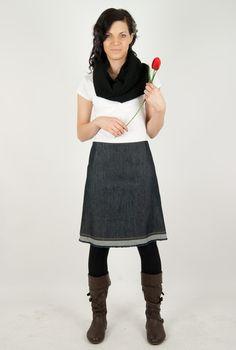 Jeansröcke - FRANSERL - ein Designerstück von Linea-Mano bei DaWanda