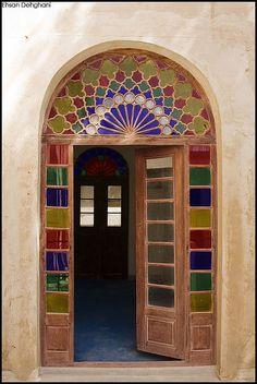 Coloured Glass. Bushehr, Iran