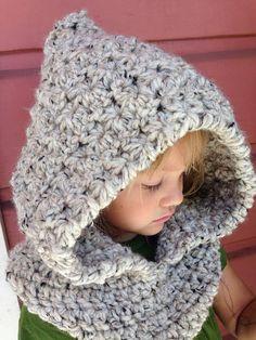 Crochet Pattern for Star Stitch Hooded Cowl por crochetbyjennifer