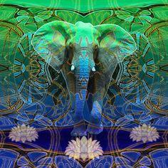 Wandering Elephant Duvet Cover by Waelad Akadan Elephant Walk, Elephant Print, Painted Indian Elephant, Elephant Duvet Cover, Funky Gifts, World Of Color, Painting & Drawing, Animal Pictures, Duvet Covers