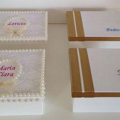 Caixas personalizadas para as daminhas e pajens de Débora e Newton ❤️❤️❤️❤️