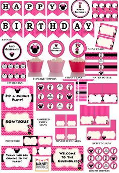 70% OFF Minnie Mouse Party package Minnie от EasyPartyPrintables