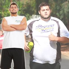 Nathan's before and after transformation! #BiggestLoser