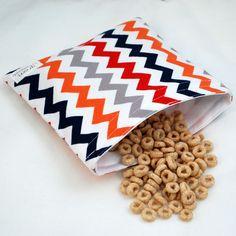 Chevrons (Preppy) - green by mamamade Eco-Friendly Reusable Sandwich Bag. $8,50, via Etsy.