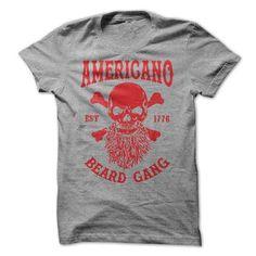 AMERICANO BEARD GANG - #shirt pillow #matching hoodie. GET YOURS => https://www.sunfrog.com/LifeStyle/AMERICANO-BEARD-GANG.html?68278