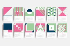 2016 Illustrated Calendar + Free Iphone Wallpapers on Behance