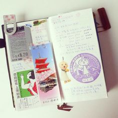 """BIG exam is coming on Thursday. I miss """"playing"""" with my #travelersnotebook   #travelersnote #yfxjpn #kyoto #japan #journal"""